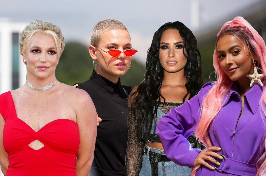 Britney Spears, Justė Arlauskaitė-Jazzu, Demi Lovato, Karolina Meschino