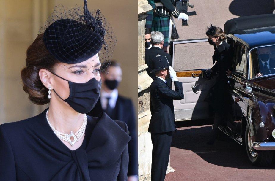 Kate Middleton princo Philipo laidotuvėse pasipuošė ypatingu Elizabeth II vėriniu