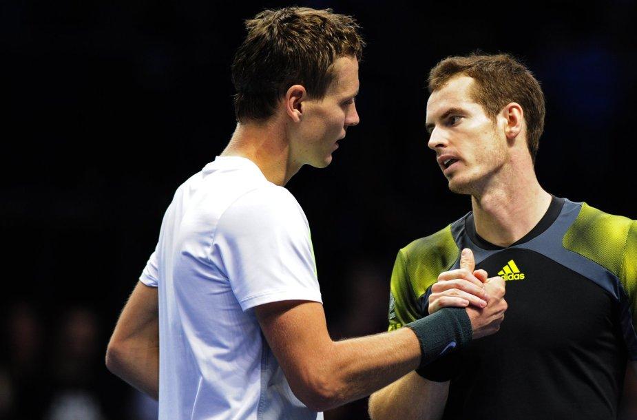 Tomašas Berdychas ir Andy Murray