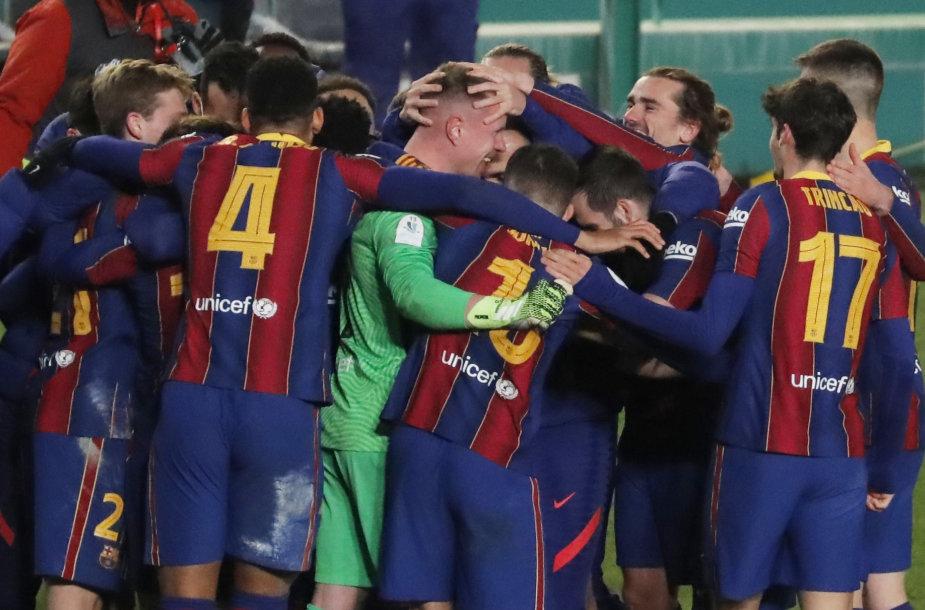 """Barcelona"" futbolininkų triumfas"