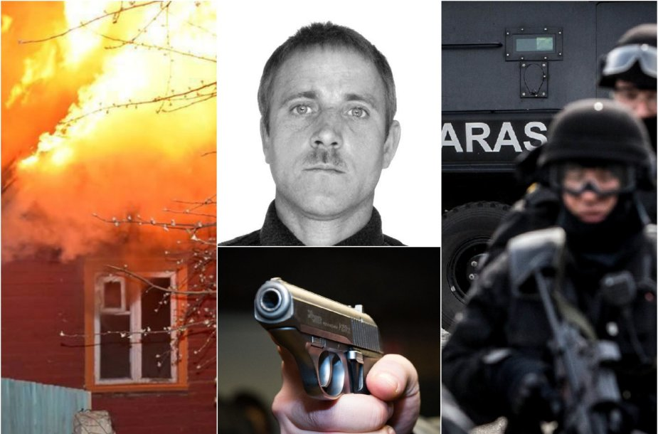 Padegėjui apšaudžius pareigūnus, į įvykio vietą išsiųstos ir antiteroristinės pajėgos