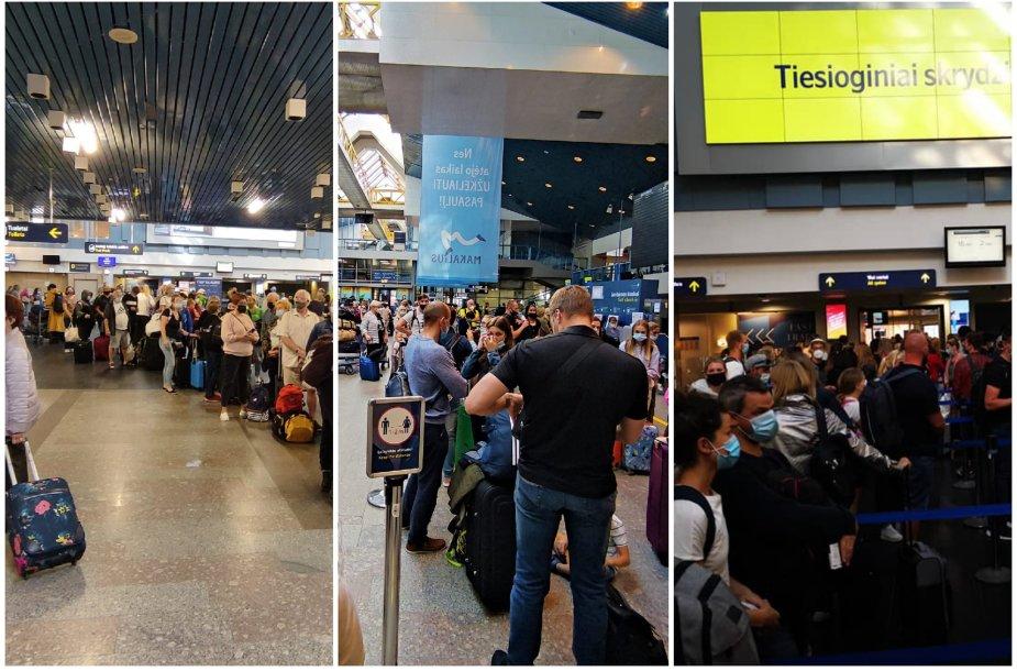 Eilės Vilniaus oro uoste
