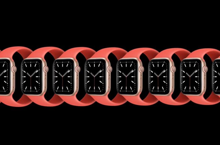 """Naujos """"Apple Watch"""" apyrankės – be jokių apyrankių ir iš tampraus silikono"""