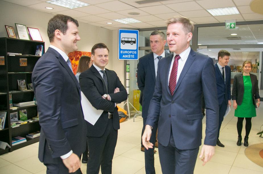 Iš kairės: Gintautas Paluckas, Valdas Benkunskas, Linas Kvedaravičius, Remigijus Šimašius