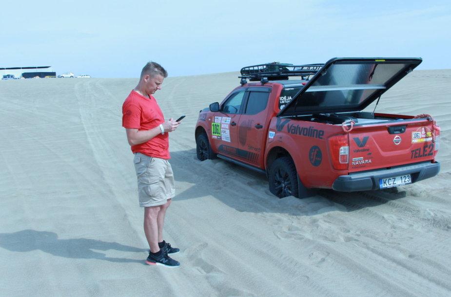 Dakaro ralio aplinka Peru kopose
