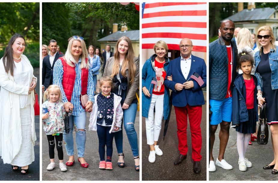 Nomeda Kazlaus, Jolanta Paulauskienė su vaikais, Visvaldas Matijošaitis su širdies drauge, Jeanas Claude'as Edorhas su žmona ir dukra