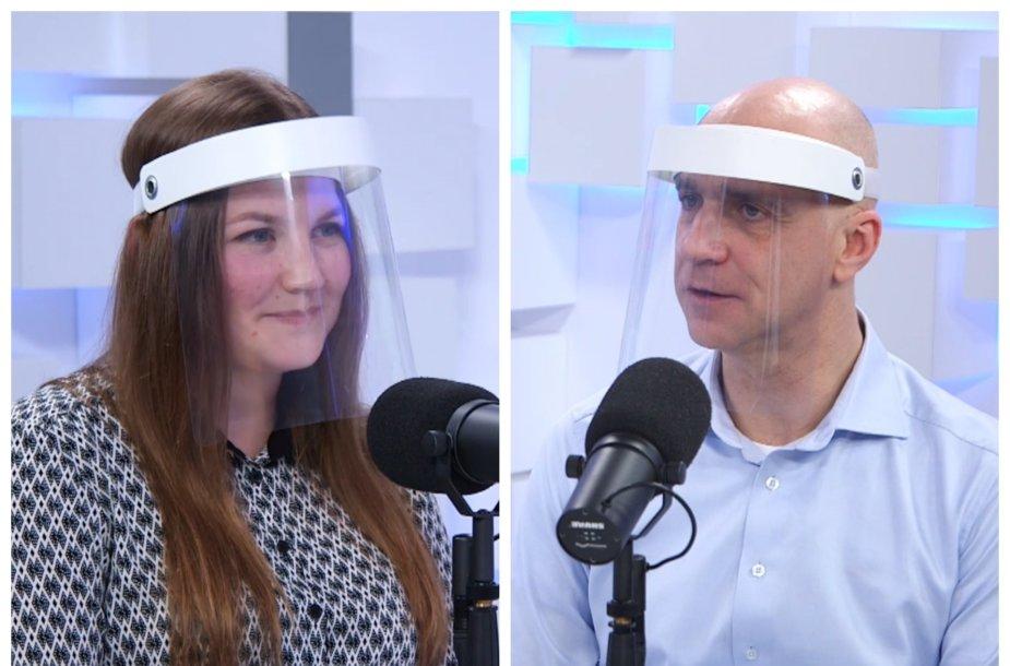 Klimatologė Viktorija Mačiulytė ir laidų vedėjas Algis Ramanauskas
