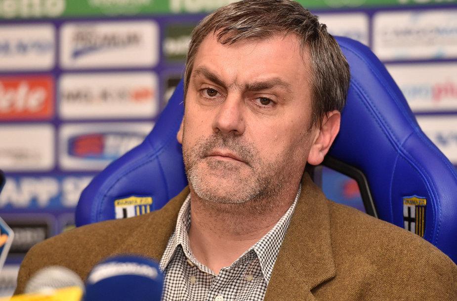 """""""Parma"""" futbolo klubo prezidentas Giampietro Manenti"""