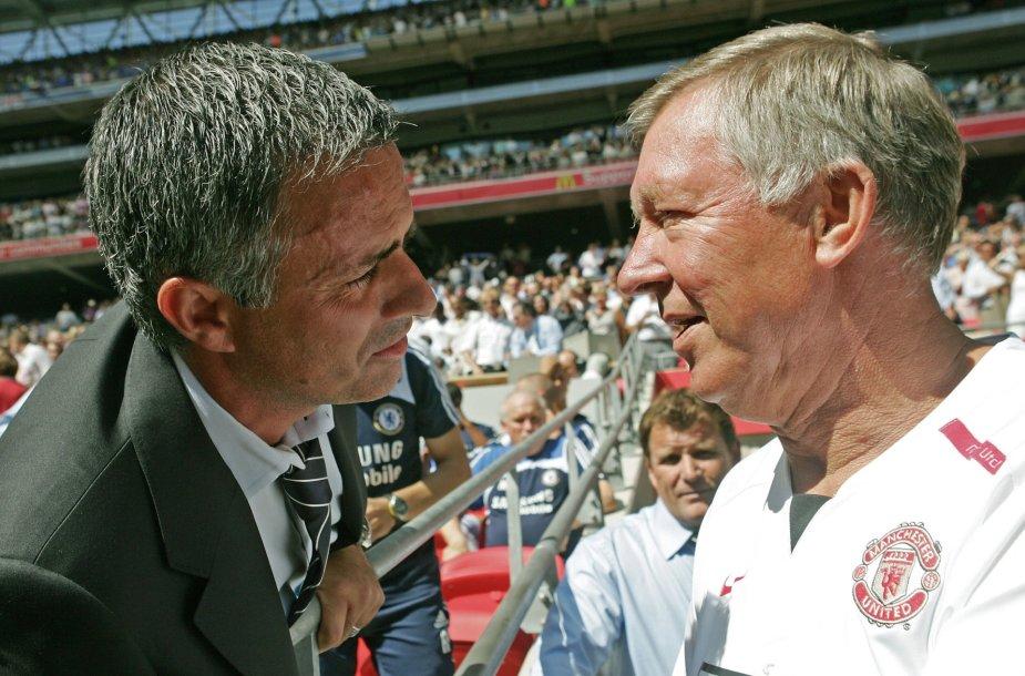 Jose Mourinho ir seras Alexas Fergusonas