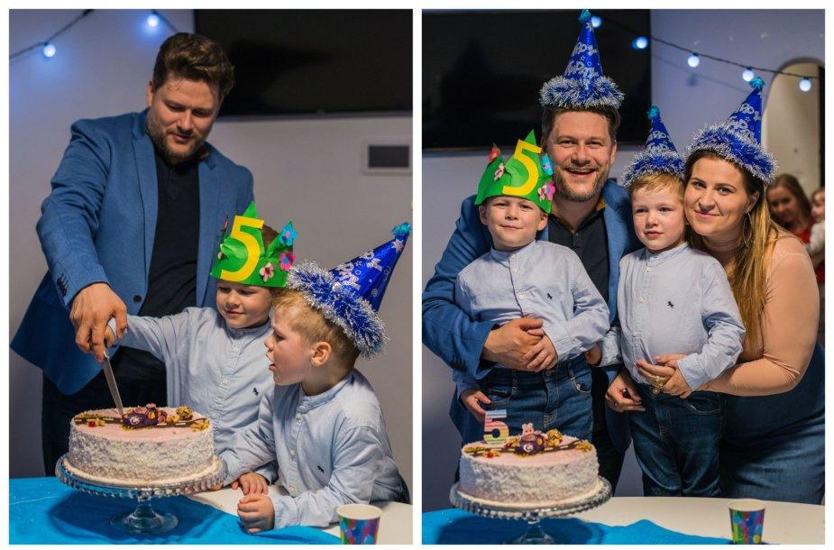 Erikos ir Merūno Vitulskių sūnaus Ajaus gimtadienio akimirkos