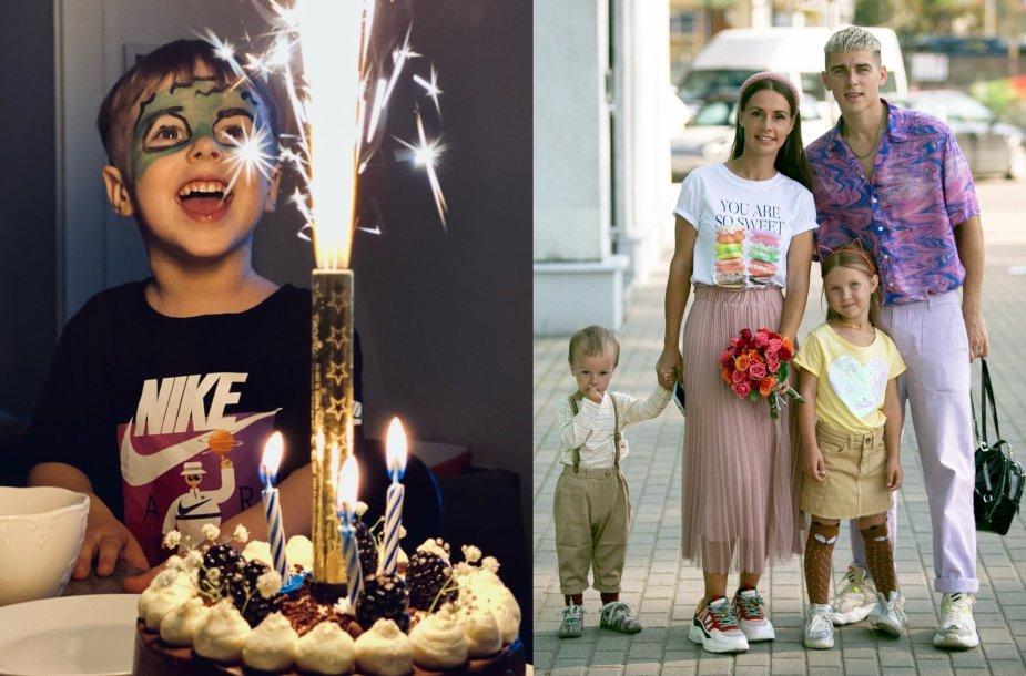 Veronikos ir Donato Montvydų sūnaus Kajaus gimtadienio akimirka
