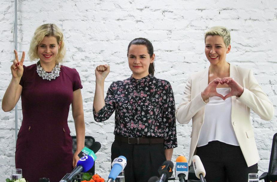 Veronika Cepkalo, Svetlana Tichanovskaja, Marija Kolesnikova