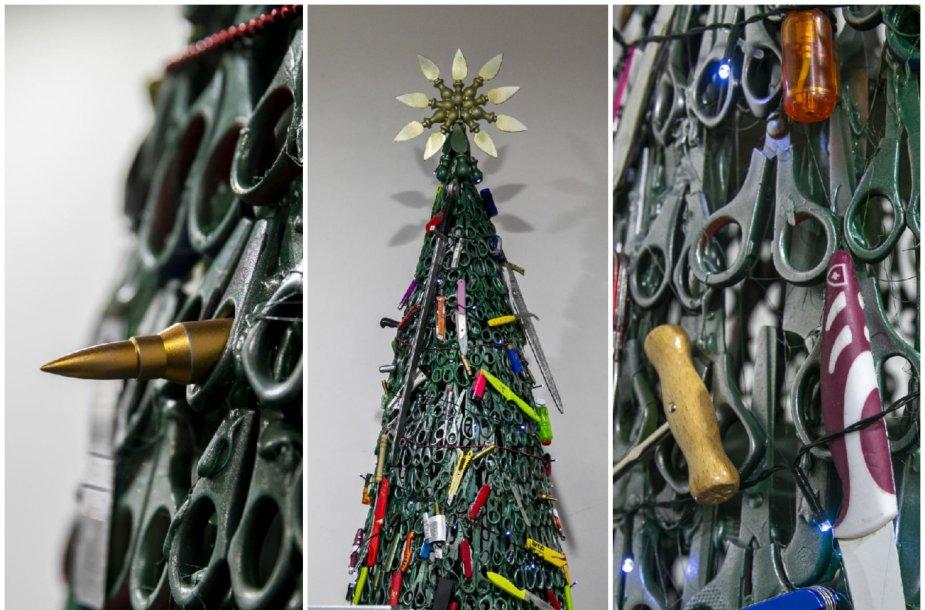 Kalėdų eglė Vilniaus oro uoste – iš draudžiamų gabenti daiktų