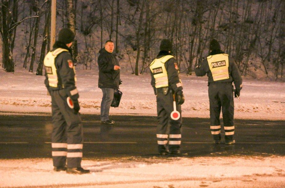 Sausio 1 d. rytinis reidas Vilniuje prieš neblaivius vairuotojus 2016 m. sausio 01 d.