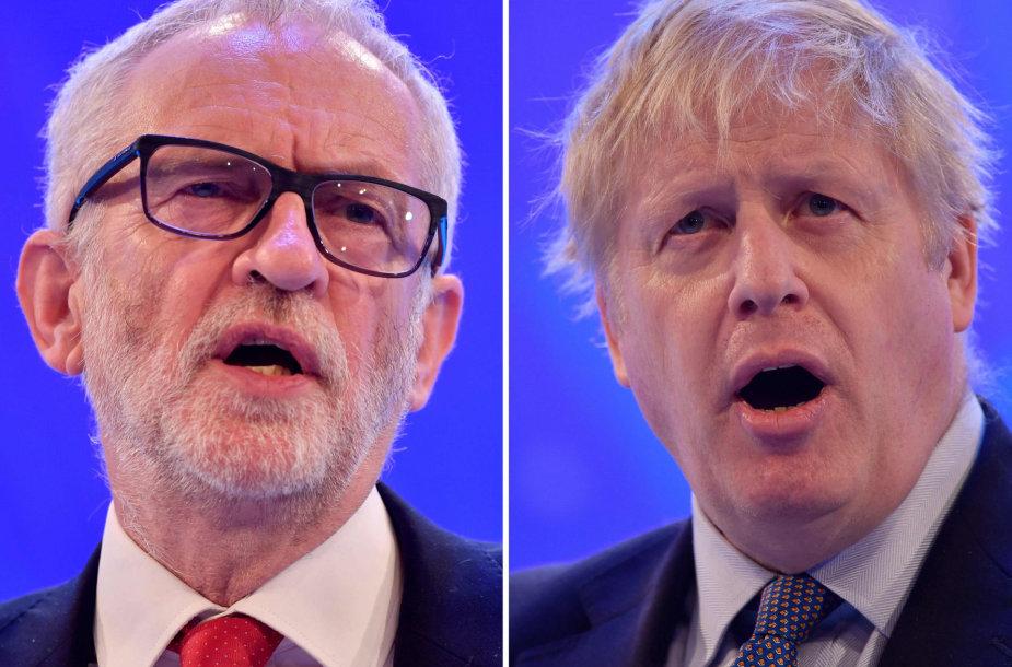Jeremy Corbyno ir Boriso Johnsono laukia svarbūs debatai