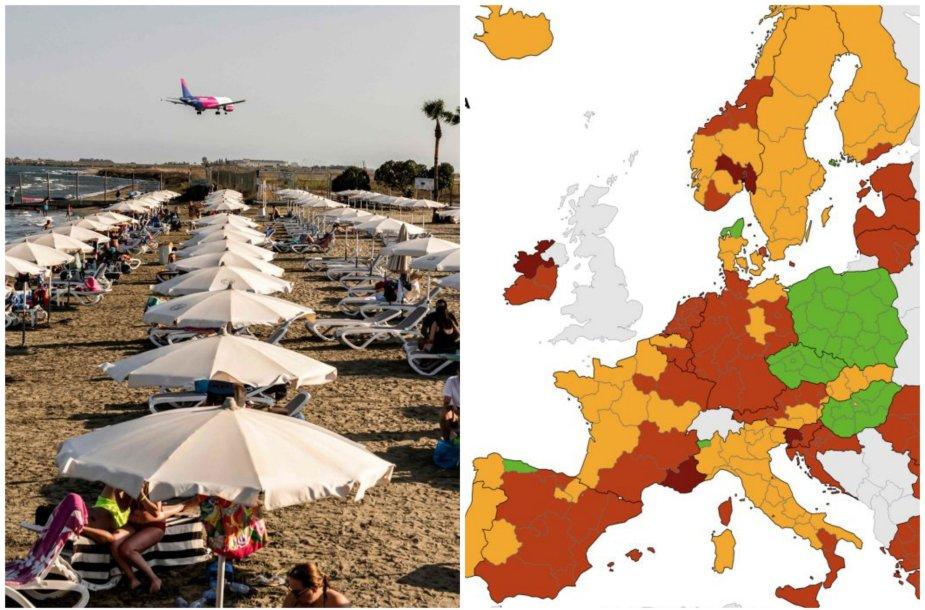 Sergamumas COVID-19 Europos šalyse. Rugsėjo 16 d.