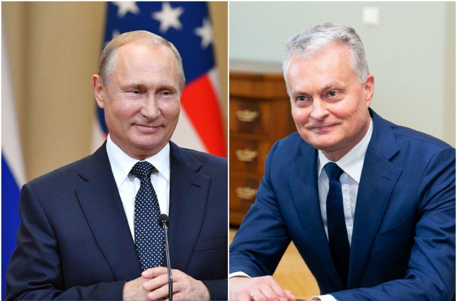 Vladimiras Putinas ir Gitanas Nausėda