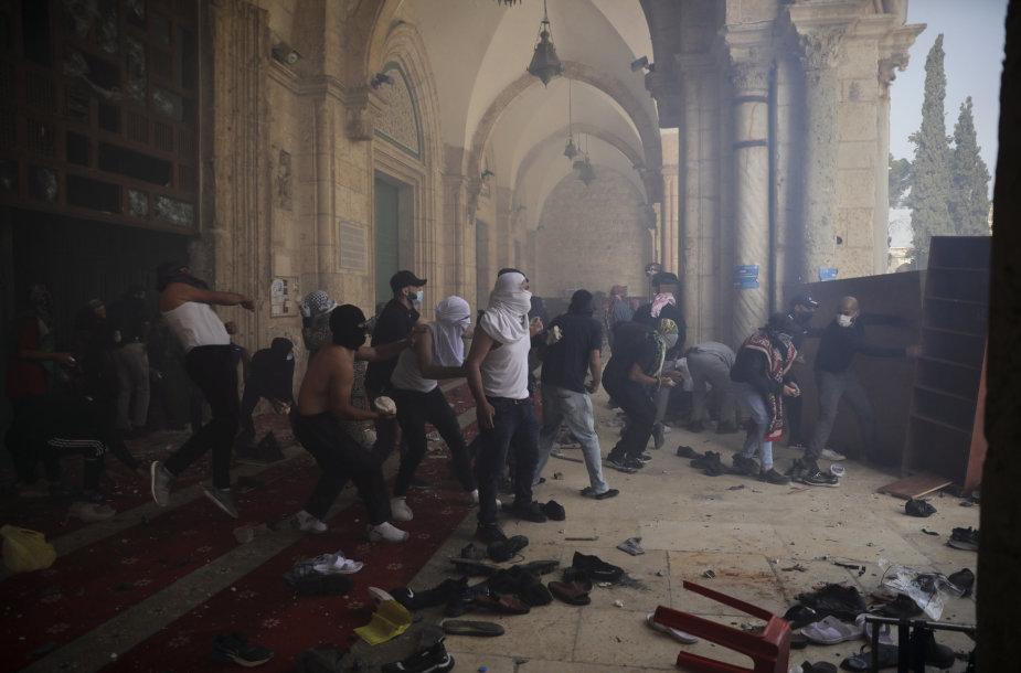 Izraelio policijos ir palestiniečių susirėmimai