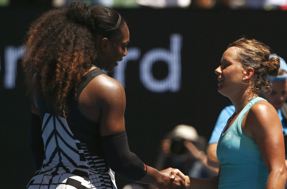 Serena Williams ir Barbora Strycova
