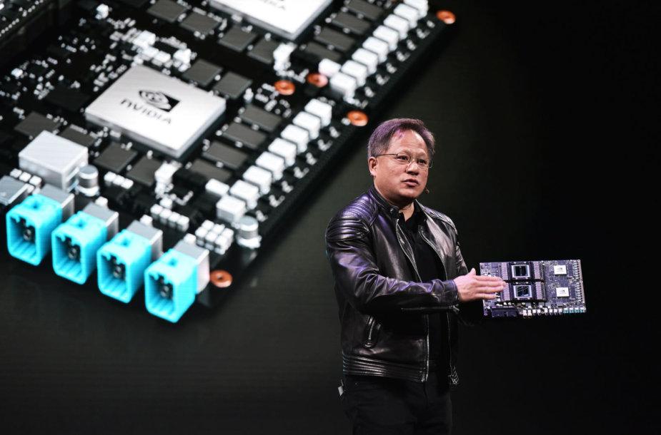 """""""nVidia"""" įkūrėjas Jensenas Huangas"""