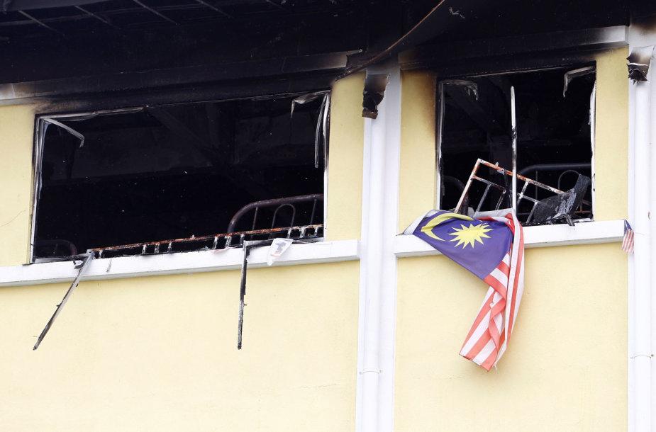 Gaisras Malaizijos mokykloje