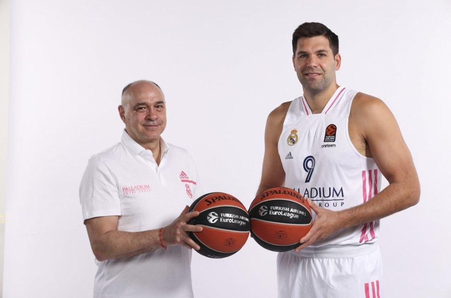 Pablo Laso ir Felipe Reyesas