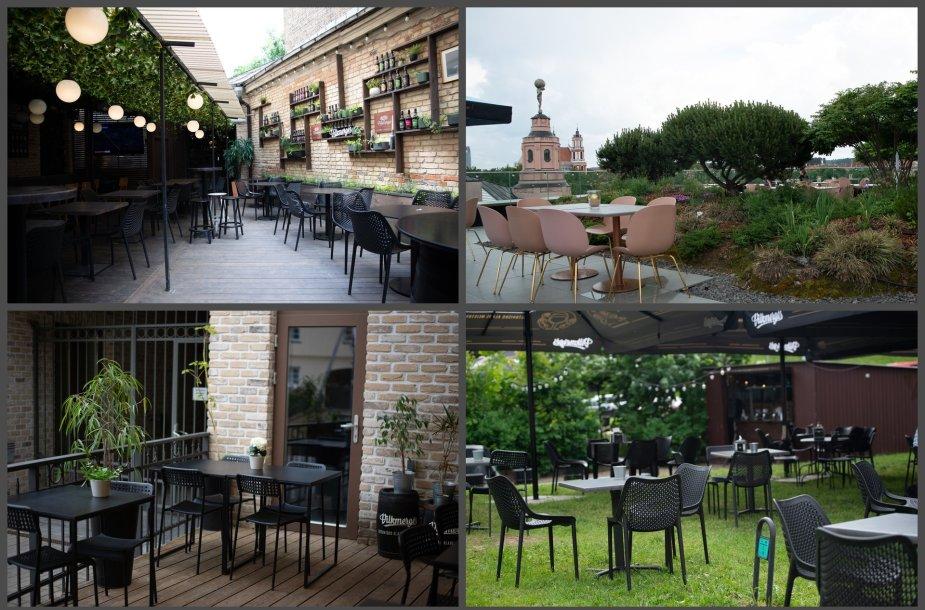 Vilniuje yra keletas vietelių, kuriose itin jaukiai galima pasisėdėti vasaros metu