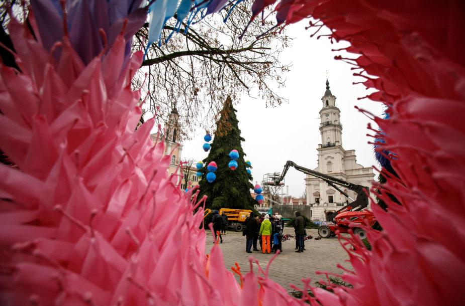 Kauno Kalėdų eglės statybos