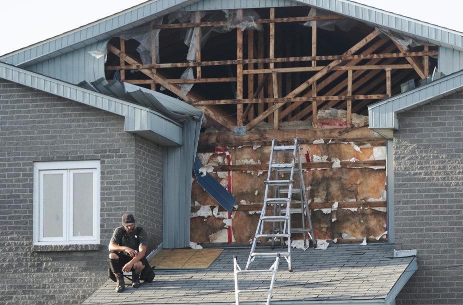 Tornado pasekmės Maskuše