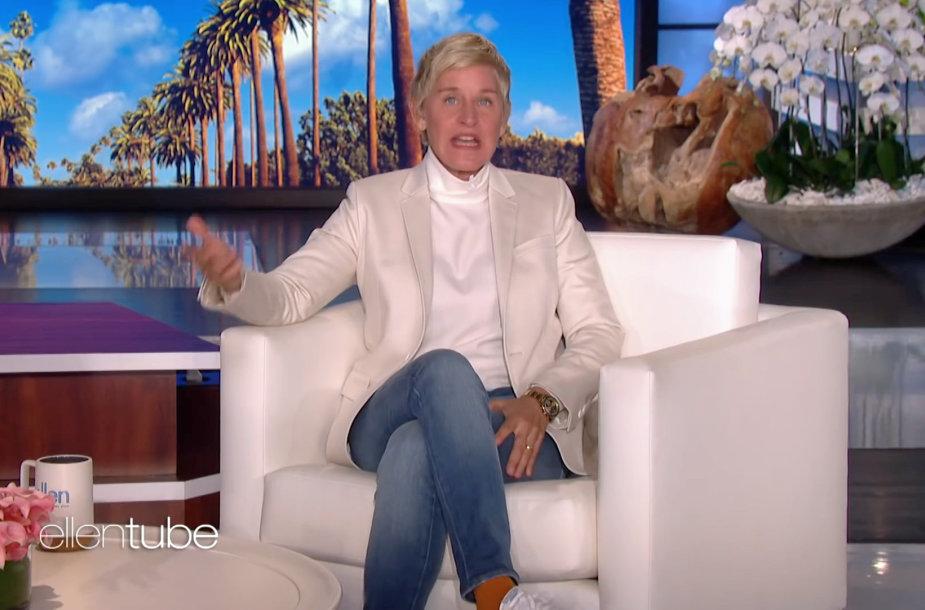Ellen DeGeneres pokalbių laidos studijoje