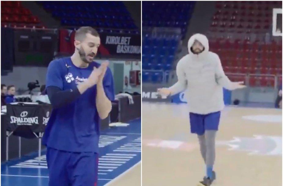 """""""Barcelona"""" krepšininkų treniruotė Vitorijoje"""