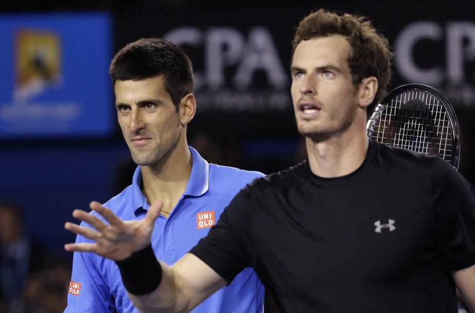 Novakas Džokovičius ir Andy Murray