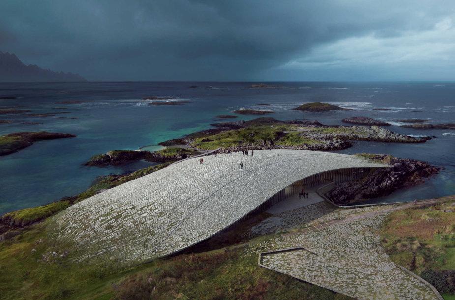 """The Whale"" pastatas Norvegijoje"