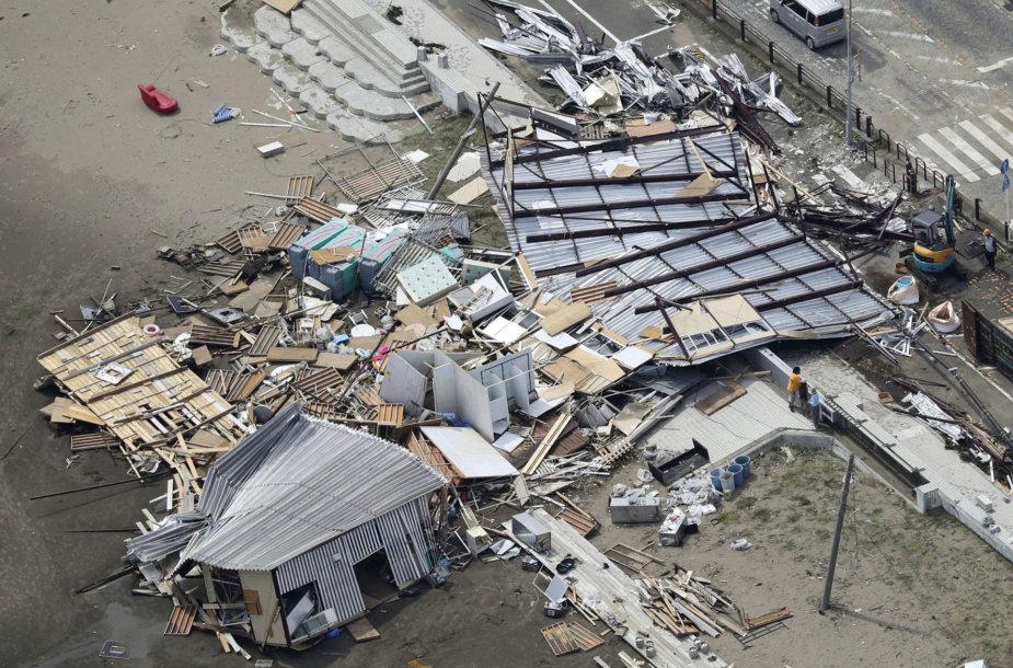 Taifūno Faxai padariniai