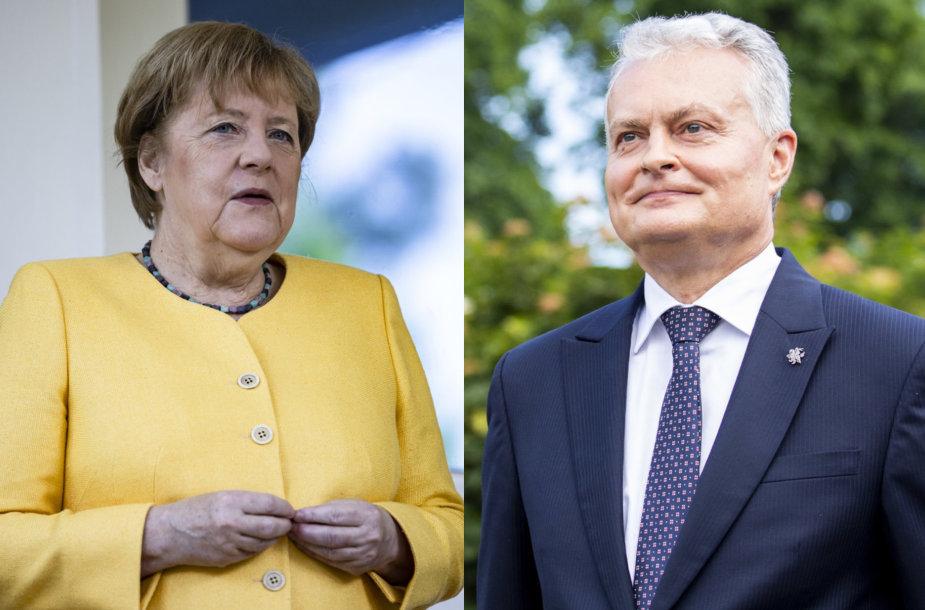 Angela Merkel, Gitanas Nauseda