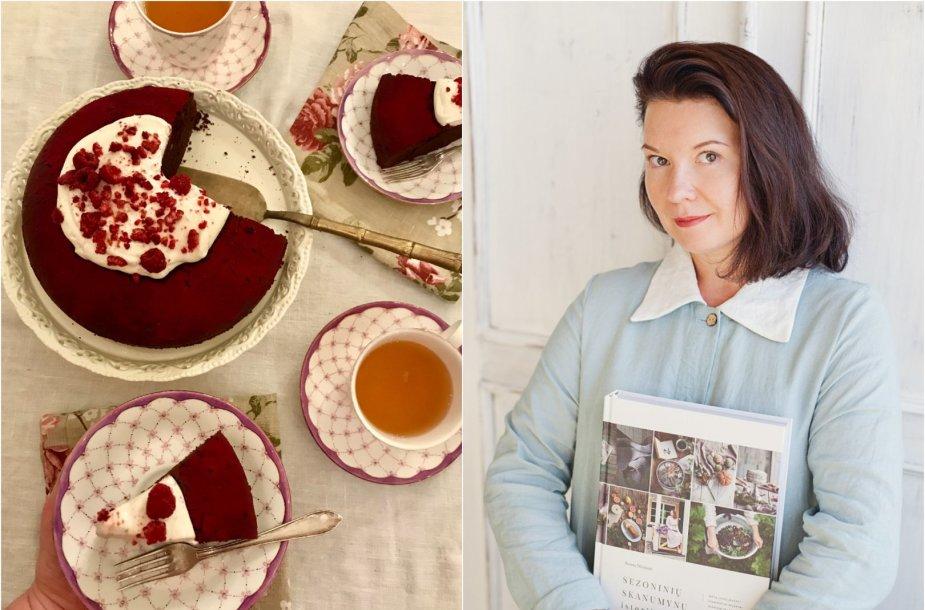 Renata Ničajienė ir jos keptas šokoladinis pyragas su alyvuogių aliejumi
