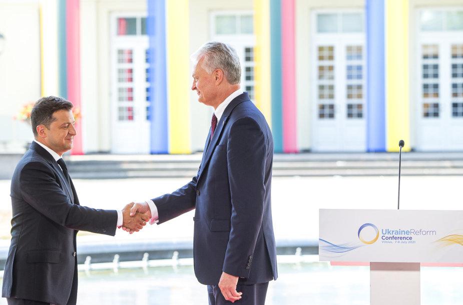 Gitano Nausėdos ir Volodymyro Zelenskio spaudos konferencija