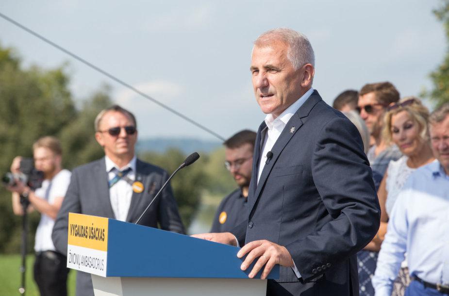 Vygaudas Ušackas paskelbė apie dalivavimą LR Prezidento rinkimuose