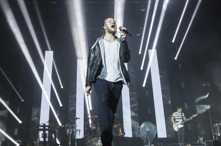 """""""Imagine Dragons"""" koncerto Vilniuje akimirka"""