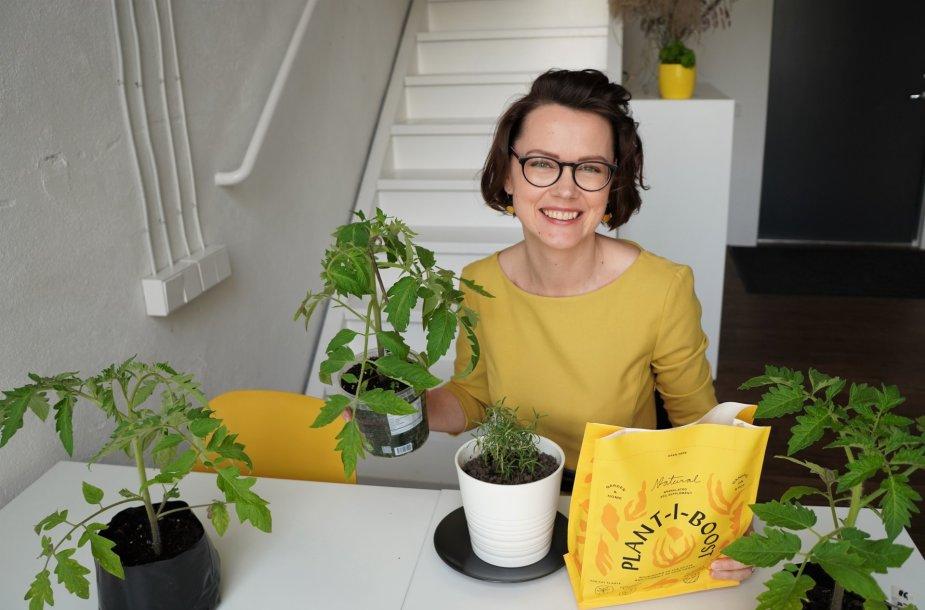 """""""Geltono karučio"""" kursų įkūrėja, tinklaraštininkė Lina Liubertaitė."""