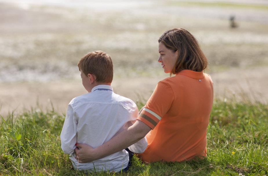 Agnė Gustė su sūnumi