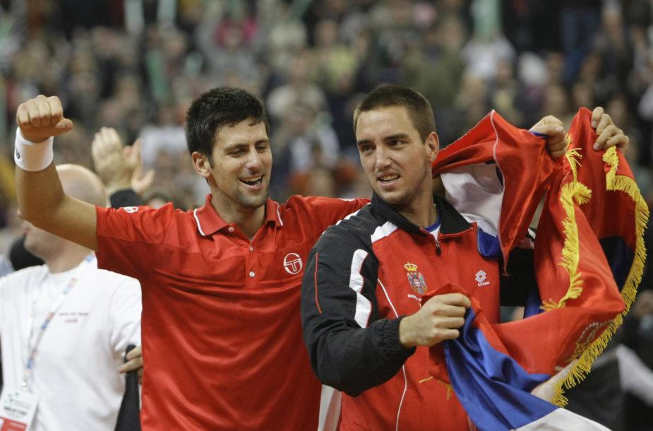 Novakas Džokovičius ir Viktoras Troickis