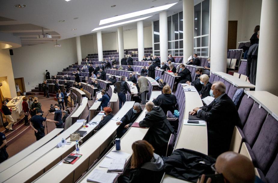 Sausio 13-osios bylos nagrinėjimas MRU auditorijoje