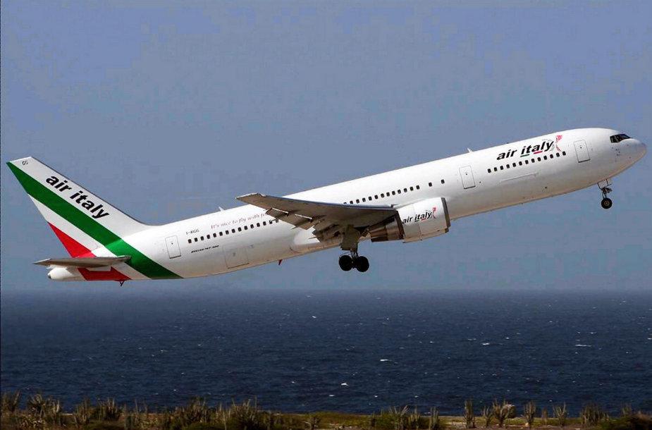 """Italijos oro bendrovė """"Air Italy"""" skelbia bankrotą"""