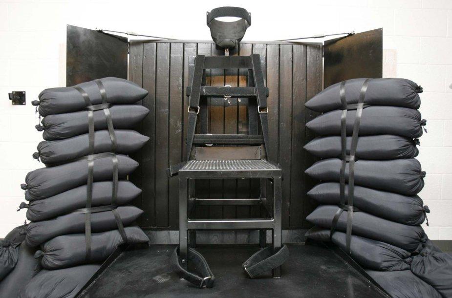 Sušaudymui paruošta kėdė