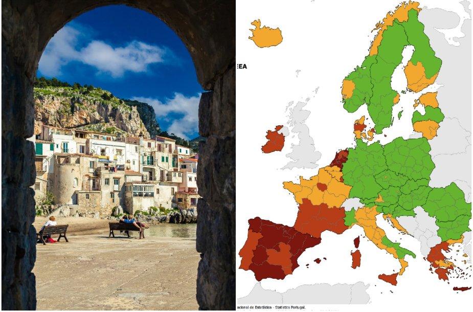 Sicilija nuo pirmadienio – raudonojoje zonoje