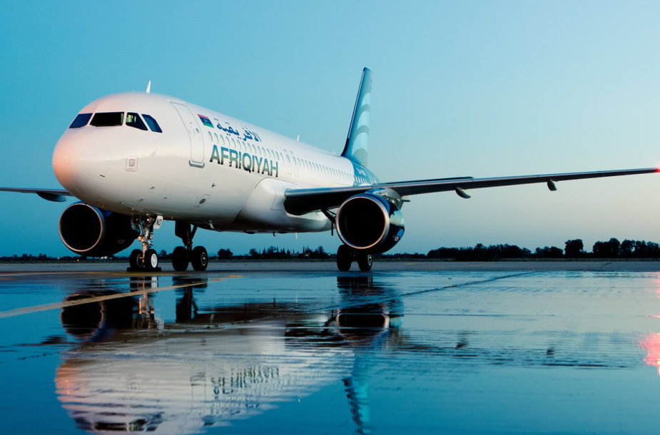 """""""Afriqiyah Airways"""" laineris"""