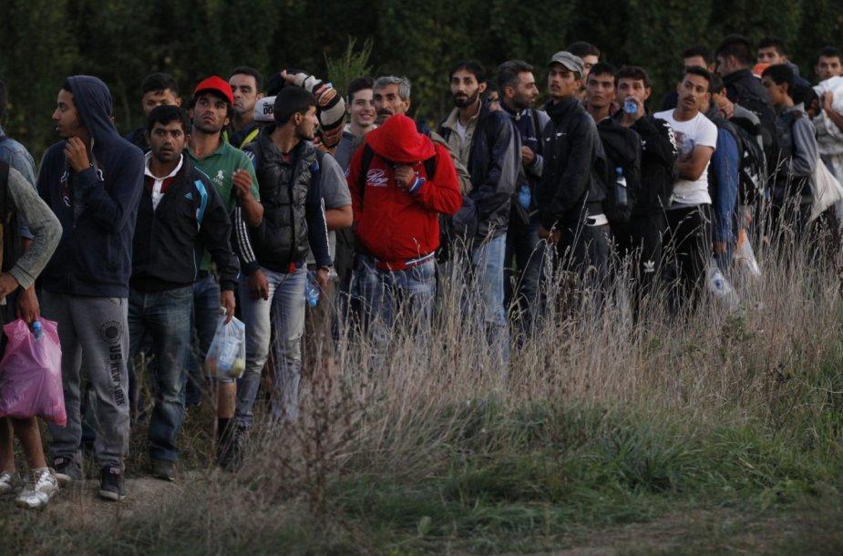 Migrantai Kroatijoje