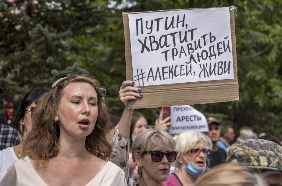 Protestuotojai Chabarovske