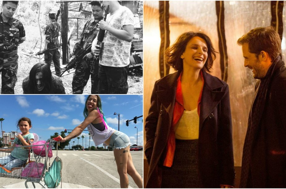 """Kadrai iš filmų """"Izabelė ir jos vyrai"""", """"Šėtono laikas"""" ir """"Floridos projektas"""""""